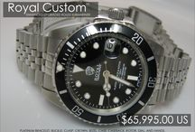 Royal Custom Watches / Royal Custom Watches are enhanced, upgraded Rolex watches.