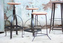 Taburetes y Sillas Industrial Furniture / Decoracion Vintage e Industrial. Muebles de estilo industrial. Diseño Industrial. Ambientación vintage. Lamparas e iluminación retro.