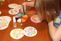 Creating with Aquabeads / Kids creating with #Aquabeads