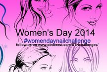 Women's Day Nail Art Challenge / Women's Day Nailart by group members to see the details click on picture #womendaynailchallenge