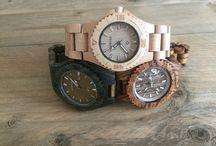 Houten Horloges / Unieke handgemaakte houten horloges voorzien van een hoogwaardig uurwerk!