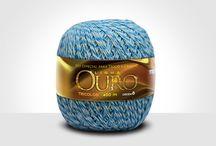 Linhas para tricô e crochê: Ouro Tricolor