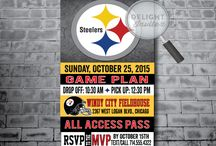 Pittsburgh Steelers Football Ticket Invitation Party Set!