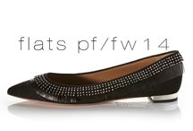 Aquazzura PF/FW14 Flats / Aquazzura's PF/FW 14 Flats in Suede, Leather with Laceups and Fringe. All Made in Italy.