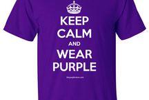 Keep Calm and Wear Purple