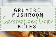 Caramelised onion and mushroom bites