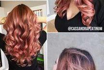 Meu cabelo Rose Gold