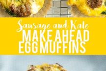 Make Ahead Breakfasts / Real food breakfasts that can be made ahead of time and enjoyed during the week. They also travel well to work, daycare, and school!