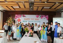 """Chung Cake Festival 2015 / Staring from 10:00am 13 Feb. (25th Dec. Lunar), our guests enjoy Chung Cake festival dressed in """"Ao Dai"""" costume to make traditional cake in Vietnamese Tet by wood mould with leaf """"Dong"""" and taste it.   That are sure to make their stay memorable - right in the heart of resort capital, Muine, Vietnam.  #TheCliffResort #PhanThiet #ChungCake"""