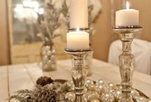 Rustic winter wedding / Natural and rustic winter wedding ideas. Winter wedding bouquets, reception decorations, lanterns, table arrangements.