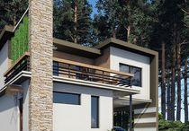 Projekty RD Modern / Architektura, fasada