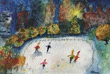 Winter and Christmas Watercolours