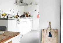Vloeren:  kamer, keuken
