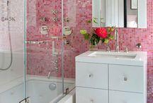 Banheiro cor de rosa