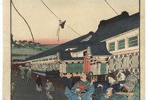 Estampes Cerfs-volants - Japon