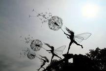 Fairies & dandelions / Garden art
