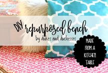 Bench Ideas: Buy, DIY & Tutorials / Favorite ideas for indoor and outdoor benches. Includes bench plans, DIY's, how to's, tutorials. And beautiful benches to buy.