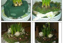 bloem en plant kunst