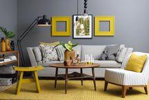 Sofá cinza - decor