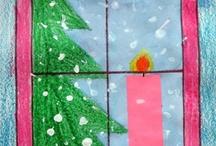 Kunst Winter und Weihnachten