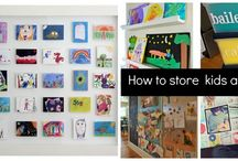 Clever Ways to Store Kids Artwork