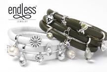 Endless Jewelry / Combining the highest grade leather bracelets and superb quality charms Endless Jewelry is the freshest brand to look out for.  Choose from the single, double or even triple wrap leather bracelets in a rainbow of colours to start you off. With a strong magnetic clasp the bracelet is both durable and elegant on the wrist. Charms slide on and grip the leather so they do not move around, unless you want them too. Space them to your choice and they will stay put.