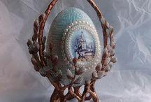 яйца из бисера / яйца ручной работы из бисера