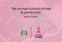 Porque las queremos, jugamos vs. el cáncer. / Campaña rosa en contra del cáncer de mama.