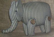 Designer Animal Toys - Elephants and Hippos
