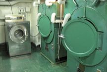 Laundry / Ships laundry on board the USS Hornet. Can you imagine having do do all the sailors laundry on board?