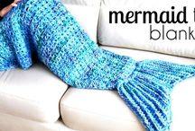 Crochet mermaid tails