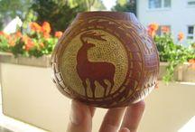 Gourds, Tykwy / Rzeźbione tykwy