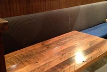 Reclaimed Wood Restaurant Table Tops / Restaurant Tables and Table Tops