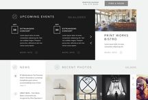 Web design / Black & white. Cool grid. Fresh 'flat'. Sweet template.