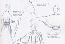 패션 아이템 스케치 명암