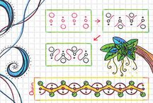 tutorial zentangle doodle pattern