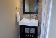 Powder Room Ideas / Home Decor ideas for your first floor powder room