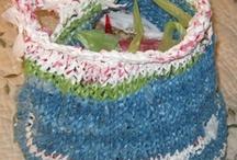Knit plastic bags