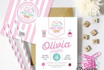 Bake Shop Party / Bake Shop Candy Store Party Printables, perfect for you little girl's party.