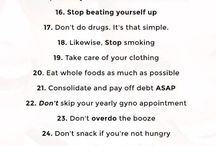 Healthy habits and ideas