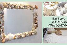 arte com conchas do mar