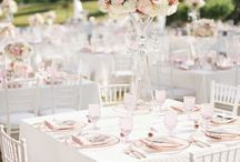 Country chic wedding / Table decor, floral decoration, ideas, etc.
