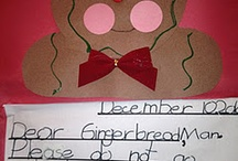 Gingerbread man activities.  / by Jamie Welby