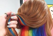 Lisa Frank Hair / Lisa Frank colourful universe has reached rainbow hair, with the brightest neons and contrasting strands. Not a look for the shy.