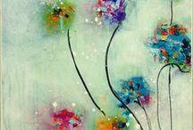 kwiaty akwarele