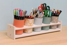 Craft Organization Ideas / Organizing your craft supplies can be just as fun as creating projects.