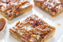 Salted Carmel Maplewood Pecan Bars