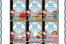 Daily math journals by DeeDee Mills