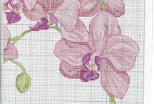 MAGNOLIAS -FLOWERS* CROSS STITCH-EMBROIDERY