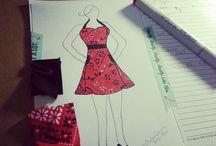 Fashion Sketches / #FashionSketchesbyTrishaTrixie #Fashion #Sketch #TrishaTrixie / by Trisha Trixie Designs